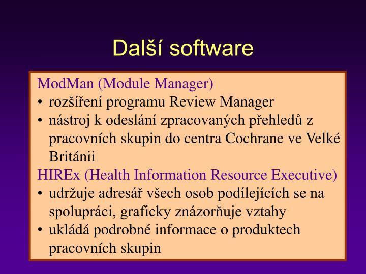 Další software