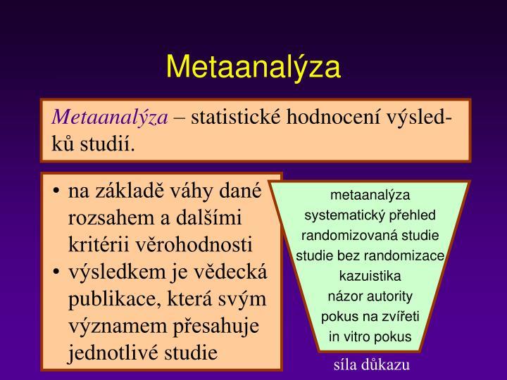 Metaanalýza