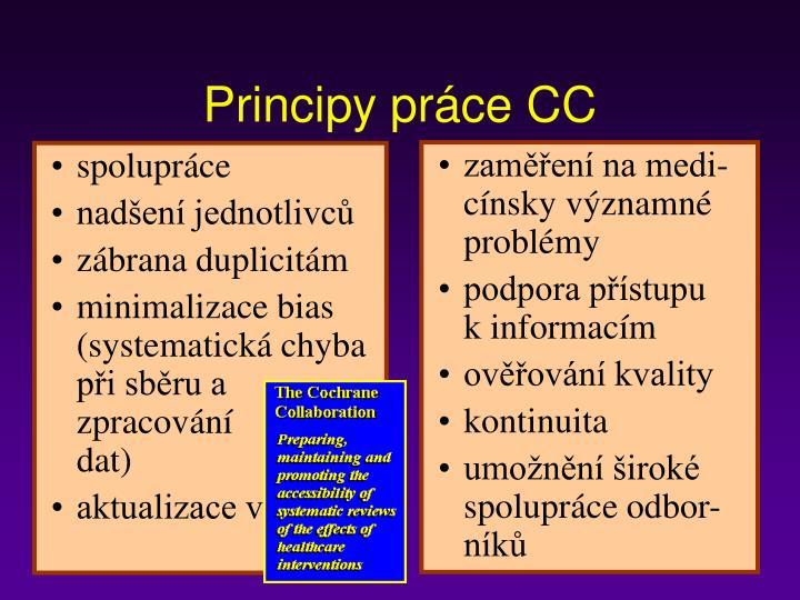 Principy práce CC