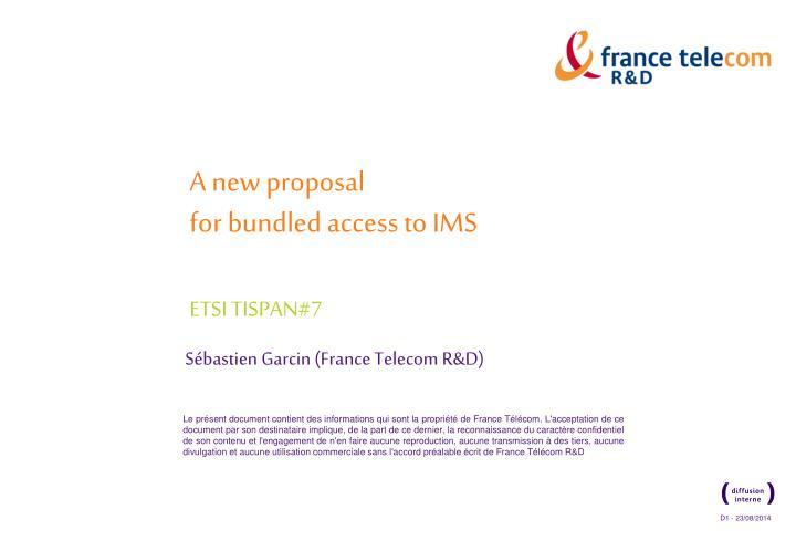 A new proposal