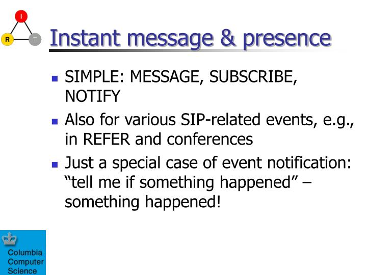 Instant message & presence