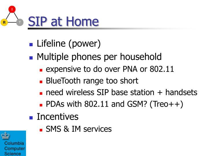 SIP at Home