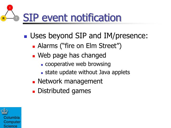 SIP event notification