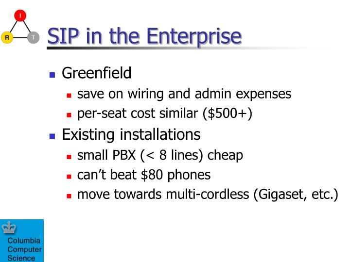 SIP in the Enterprise