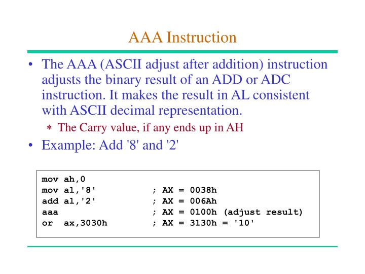 AAA Instruction