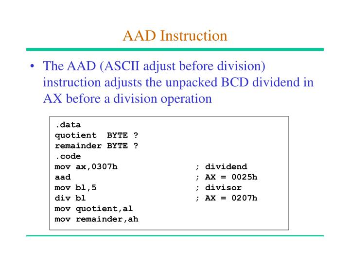 AAD Instruction