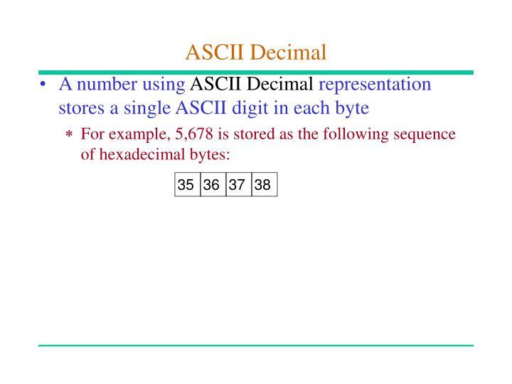 ASCII Decimal