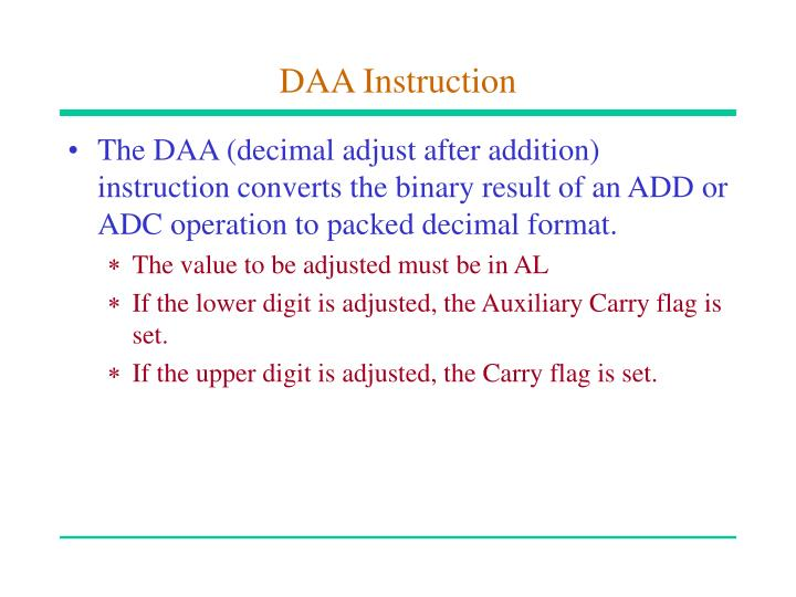 DAA Instruction