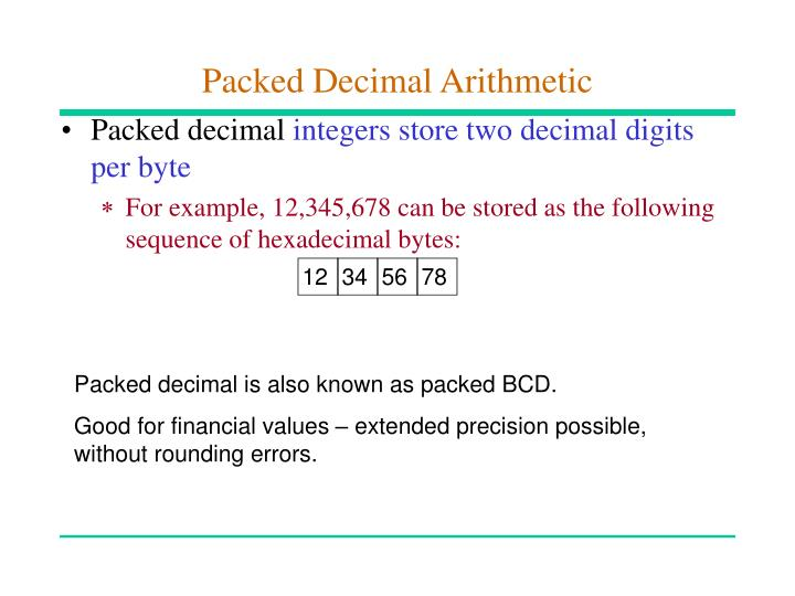 Packed Decimal Arithmetic