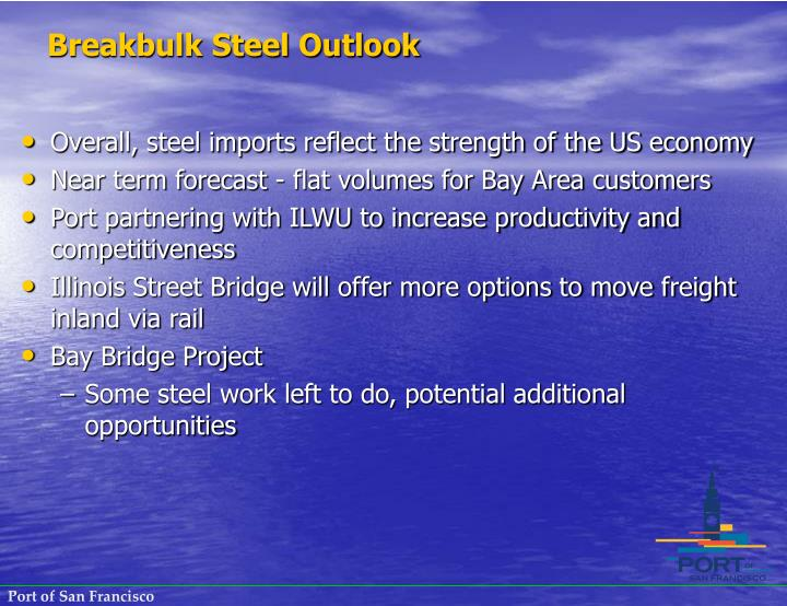 Breakbulk Steel Outlook