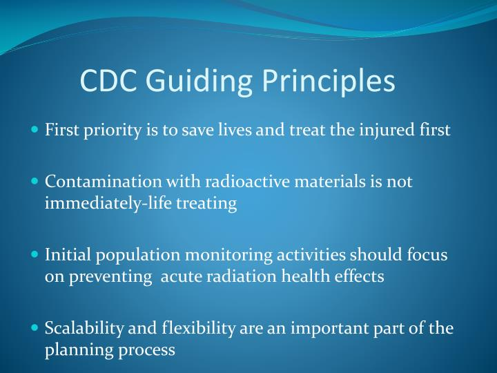 CDC Guiding Principles