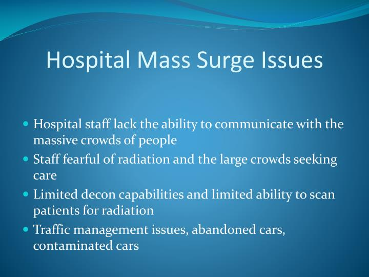 Hospital Mass Surge Issues