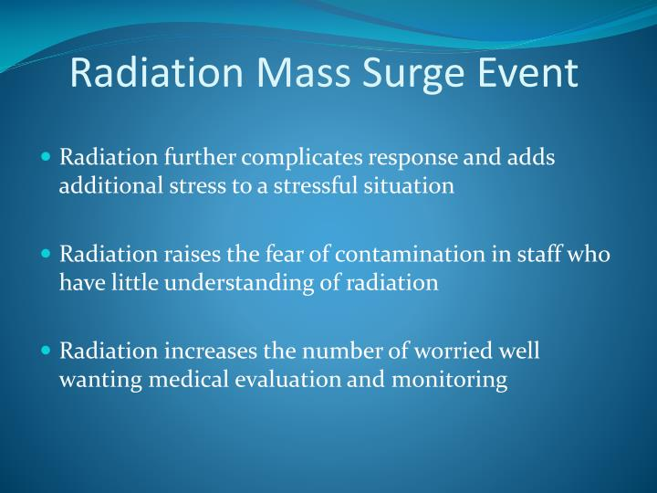 Radiation Mass Surge Event