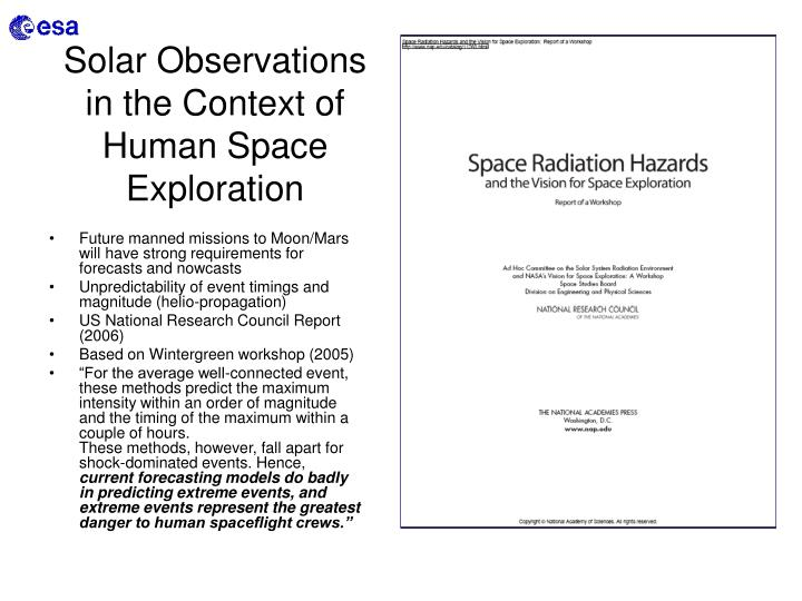 Solar Observations in the Context of Human Space Exploration
