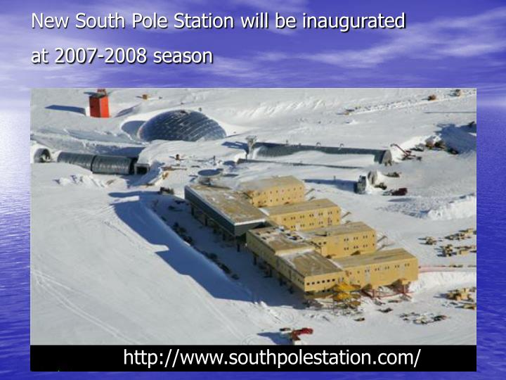 New South Pole Station will be inaugurated