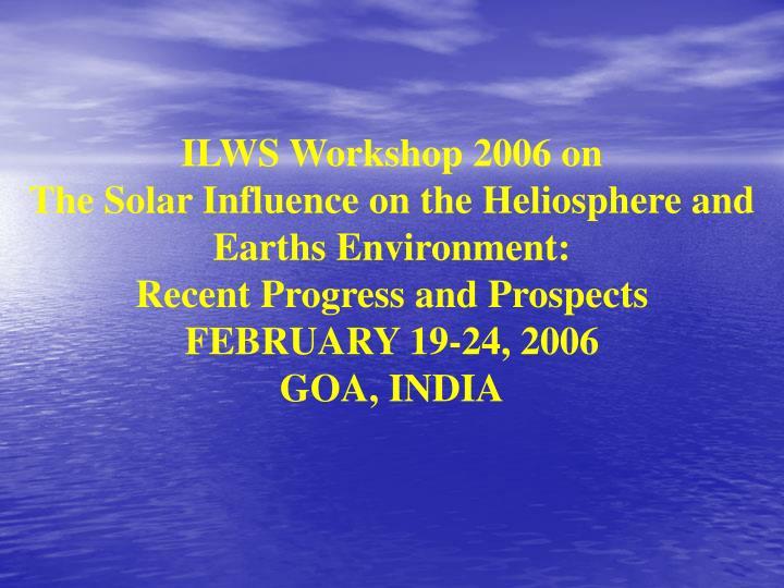 ILWS Workshop 2006 on