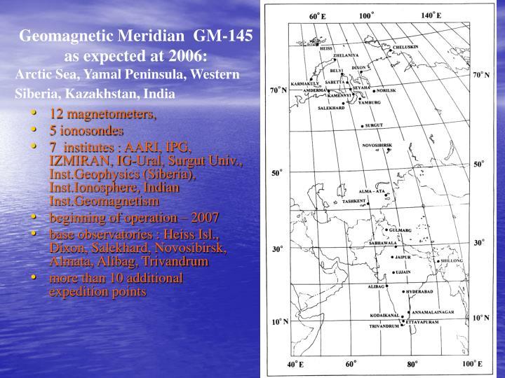 Geomagnetic Meridian  GM-