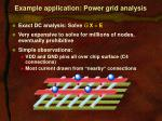 example application power grid analysis