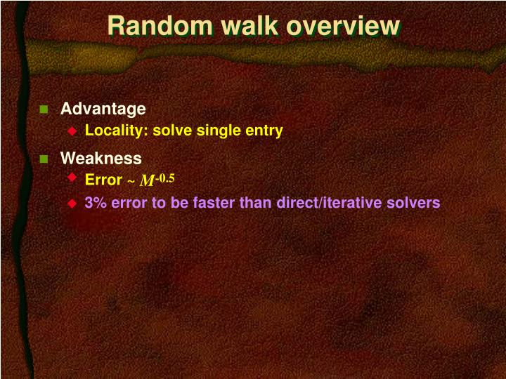 Random walk overview
