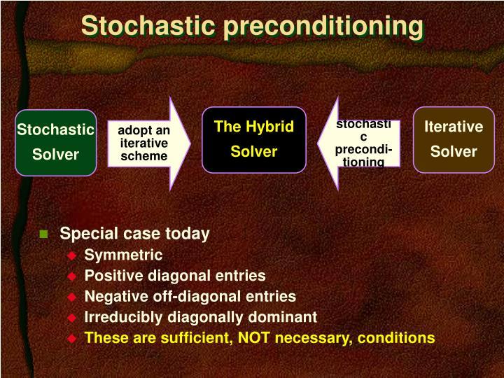 stochastic precondi-tioning