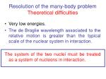 resolution of the many body problem theoretical difficulties