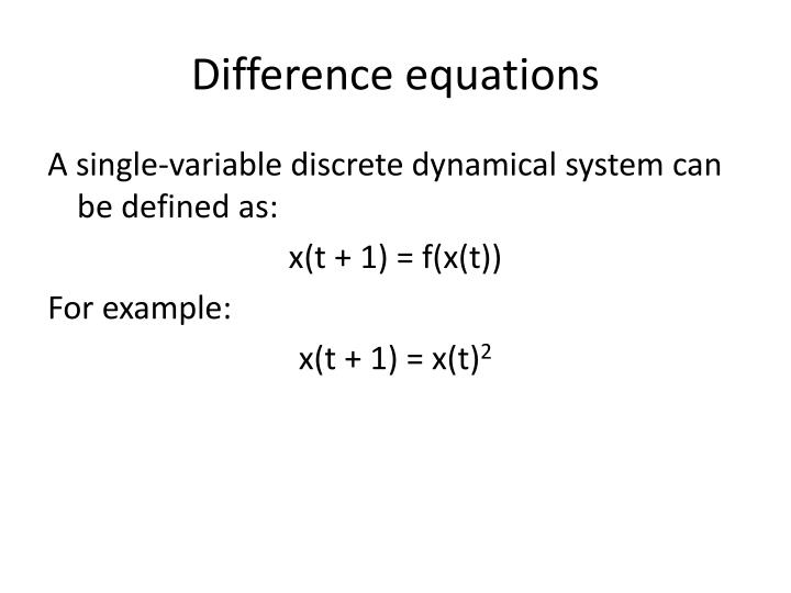 Difference equations1