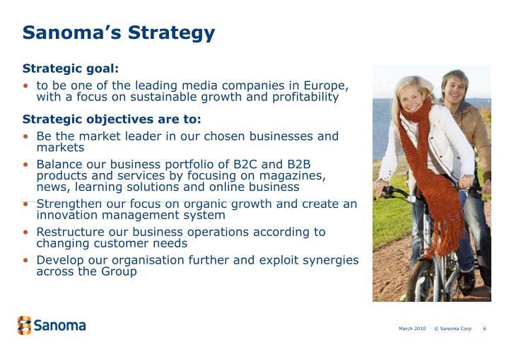 Sanoma's Strategy