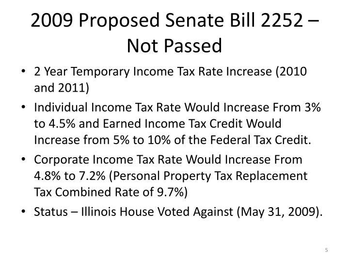 2009 Proposed Senate Bill 2252 – Not Passed