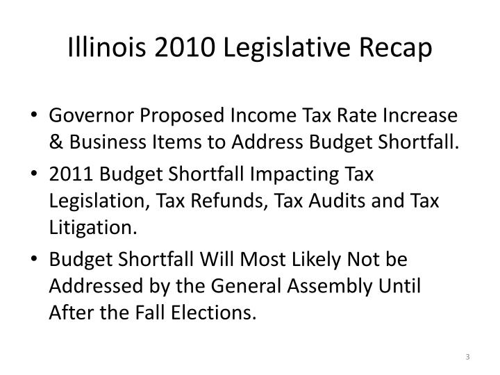 Illinois 2010 Legislative Recap