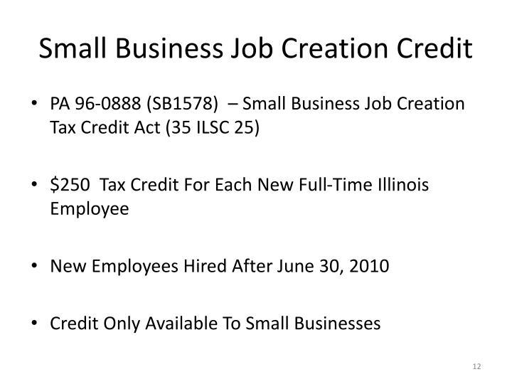 Small Business Job Creation Credit