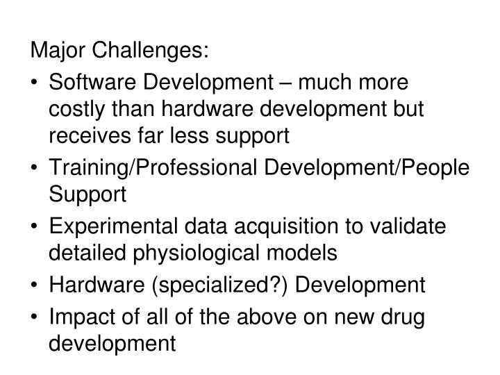 Major Challenges: