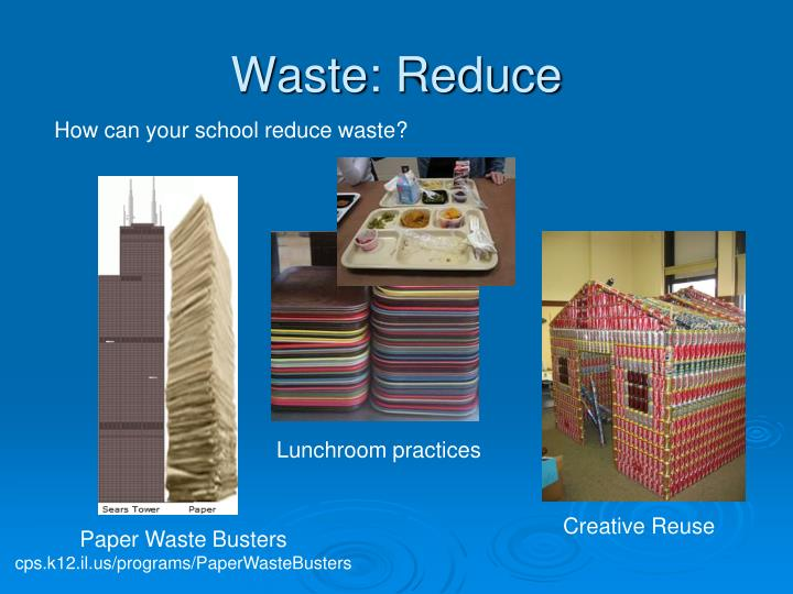 Waste: Reduce