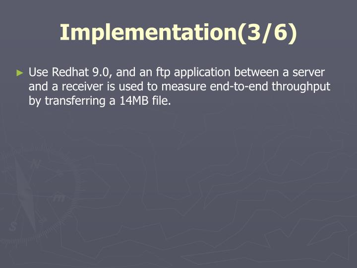 Implementation(3/6)