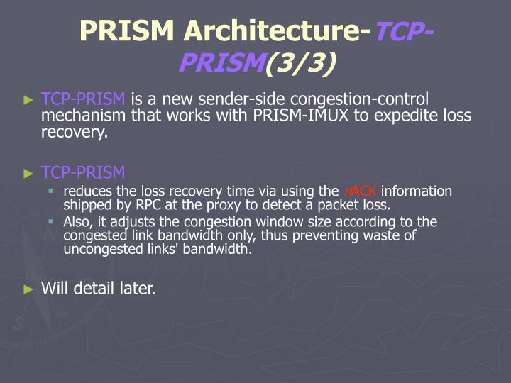 PRISM Architecture-