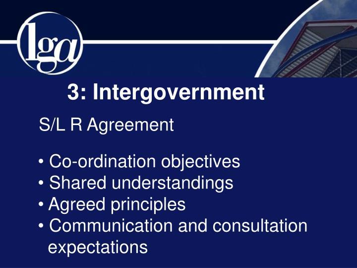 3: Intergovernment