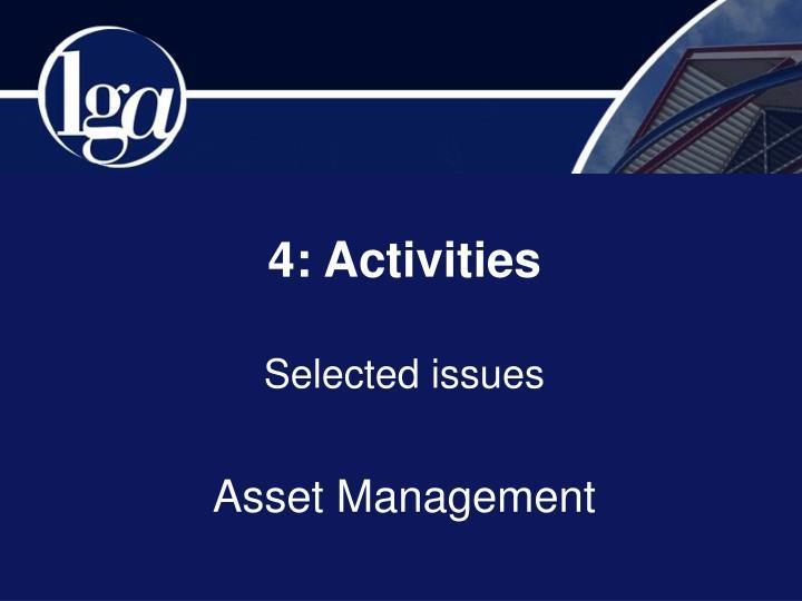 4: Activities