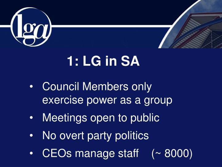 1: LG in SA