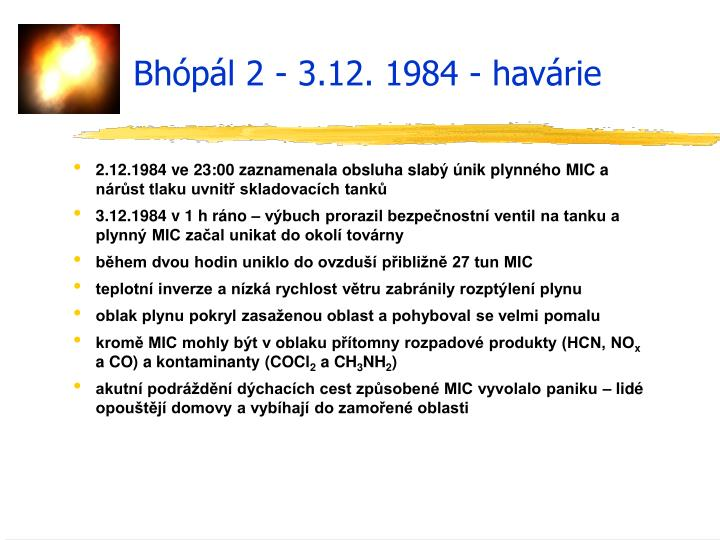 Bhópál 2 - 3.12. 1984 - havárie