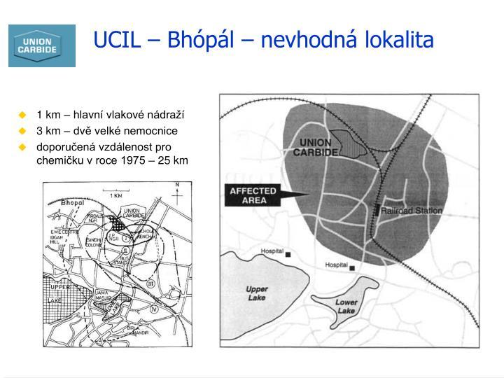 UCIL – Bhópál – nevhodná lokalita