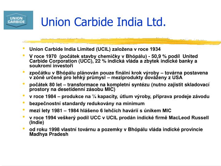 Union Carbide India Ltd.
