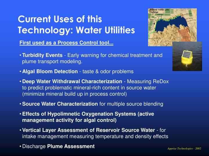 Current Uses of this Technology: Water Utilities