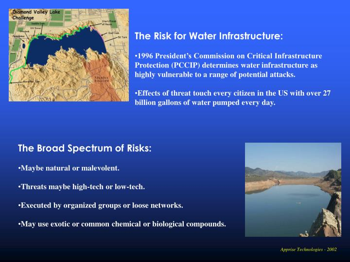 The Risk for Water Infrastructure: