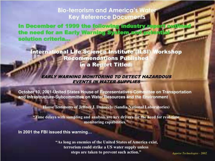 Bio-terrorism and America's Water