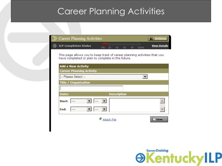 Career Planning Activities