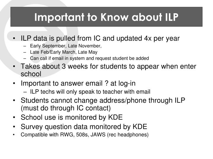 Important to Know about ILP