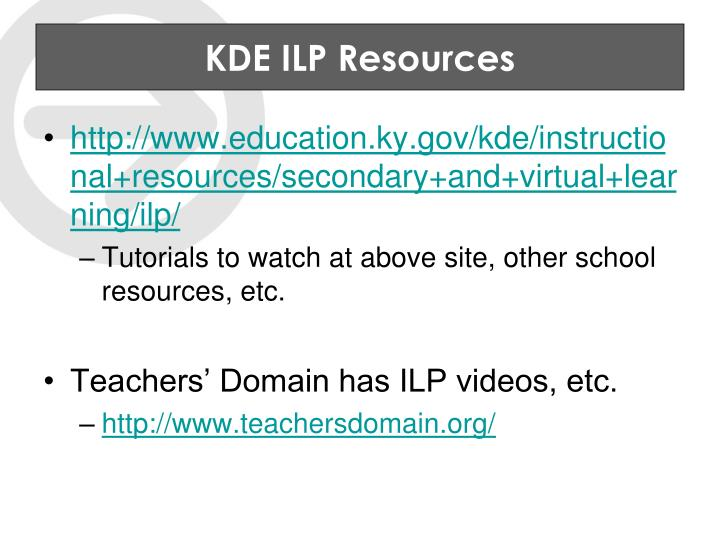 KDE ILP Resources