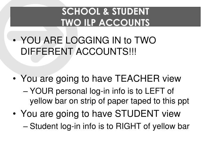 SCHOOL & STUDENT