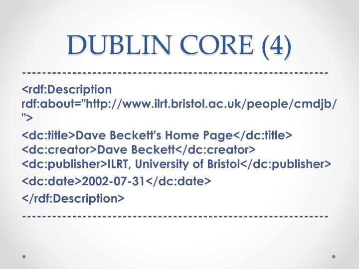 DUBLIN CORE (4)