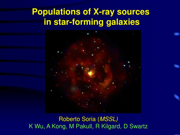 Populations of X-ray sources