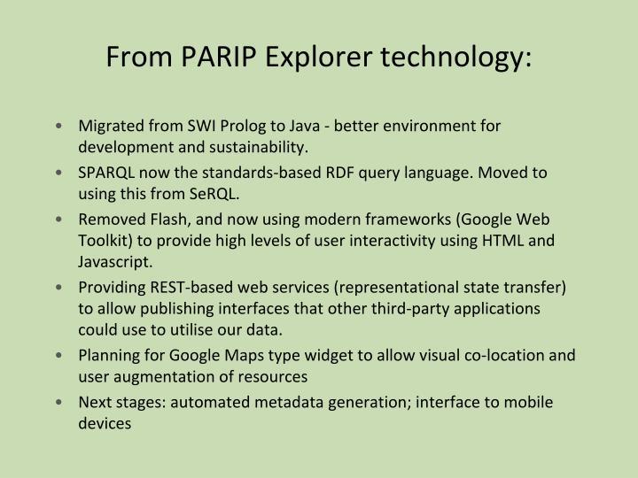 From PARIP Explorer technology: